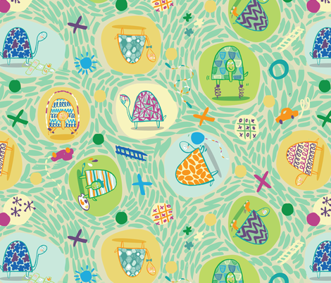 Tumbling_Turtles fabric by gsonge on Spoonflower - custom fabric