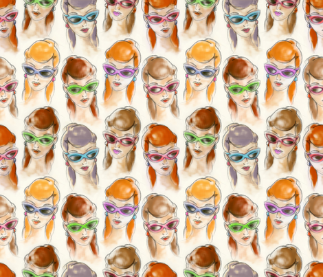 Sweet girls fabric by cassiopee on Spoonflower - custom fabric