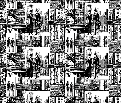 Art Deco NYC fabric by lenoir on Spoonflower - custom fabric