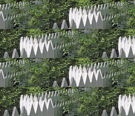 White Picket Fence Zigzag, L fabric by animotaxis on Spoonflower - custom fabric