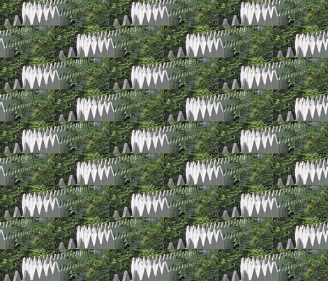 White Picket Fence Zigzag, S fabric by animotaxis on Spoonflower - custom fabric