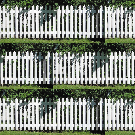 White Picket Fence S fabric by animotaxis on Spoonflower - custom fabric