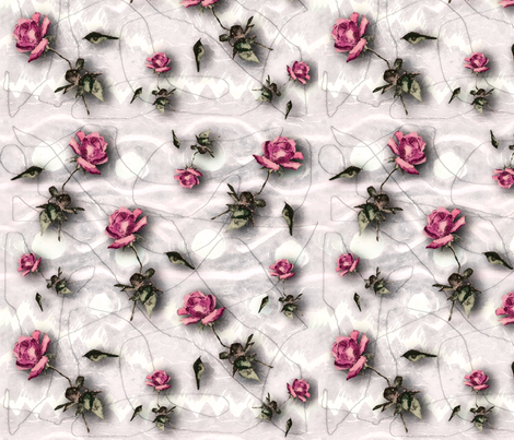 Pen & ink roses fabric by lucybaribeau on Spoonflower - custom fabric