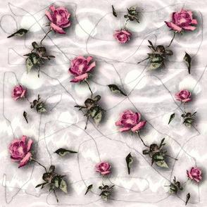 Pen & ink roses