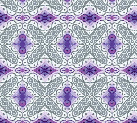 Frilly X with Shades of Purple fabric by susaninparis on Spoonflower - custom fabric