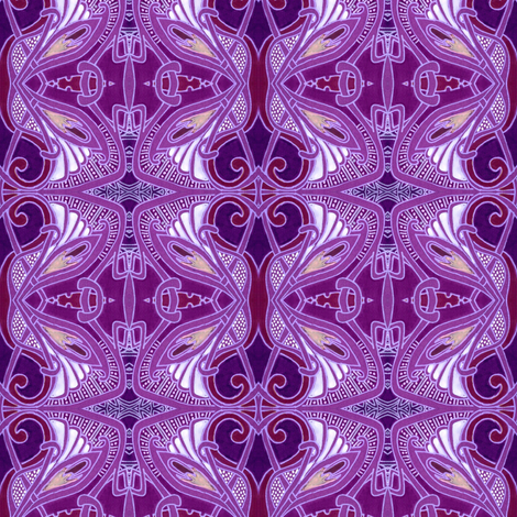 When I Think of Tiffany (purple) fabric by edsel2084 on Spoonflower - custom fabric