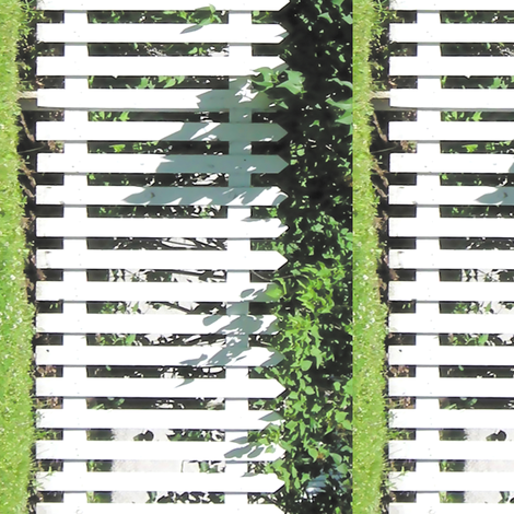 White Picket Fence Border, S