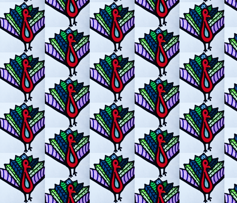 tie tailed peacock fabric by codalion on Spoonflower - custom fabric