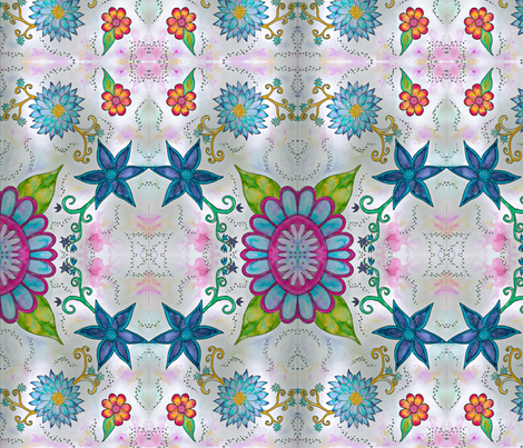 Flower Fun fabric by koni on Spoonflower - custom fabric