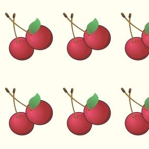 Large Cherry on Vanilla