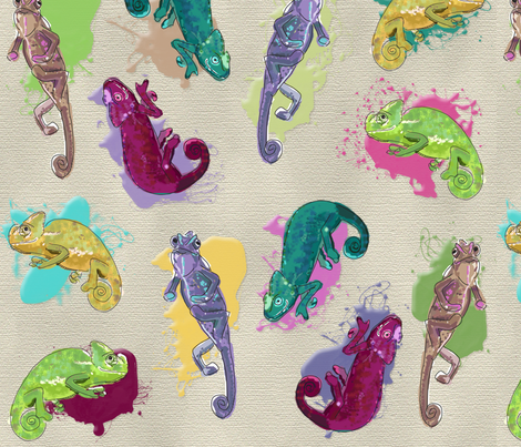 karma chameleon fabric by p_kok on Spoonflower - custom fabric
