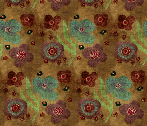 bohemian floral fabric by paragonstudios on Spoonflower - custom fabric