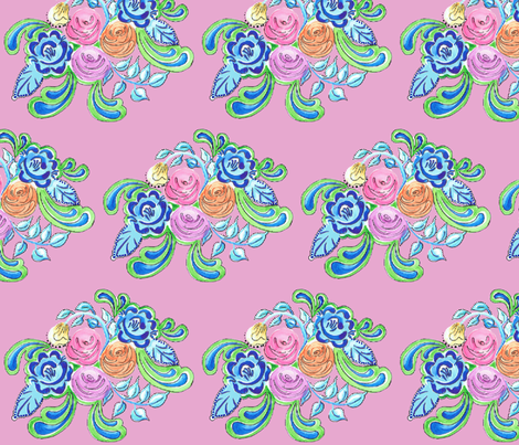 Jardin de Rose fabric by annelinesophiadesigns on Spoonflower - custom fabric
