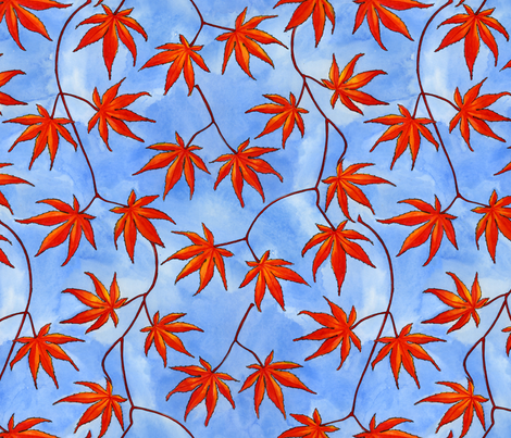 acer palmatum small fabric by gershamabob on Spoonflower - custom fabric