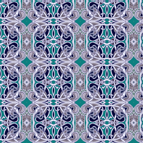 Teal and Navy Tango Boxes fabric by edsel2084 on Spoonflower - custom fabric