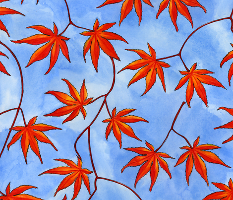 Acer Palmatum fabric by gershamabob on Spoonflower - custom fabric