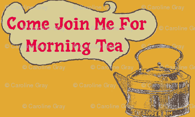 come join me for morning tea