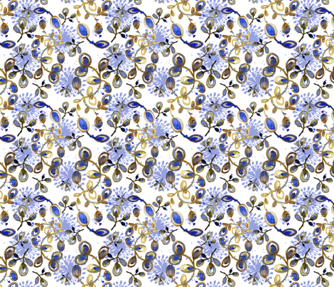 flor_aquarela_azul_fabric8 fabric by gaby_braun on Spoonflower - custom fabric