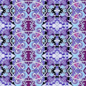 Purple Posies Vertical Stripe