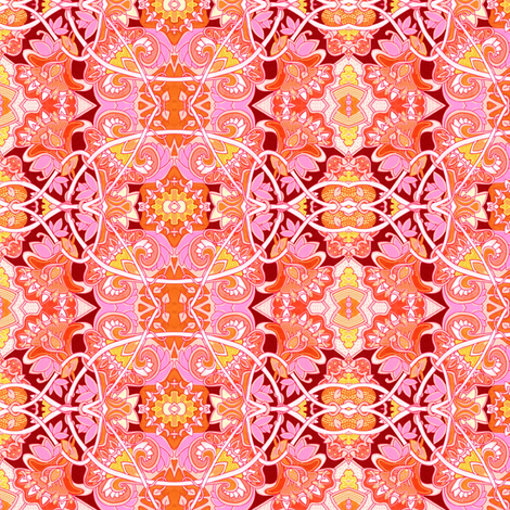 Dang that Sun is Hot Out Here in the Garden fabric by edsel2084 on Spoonflower - custom fabric