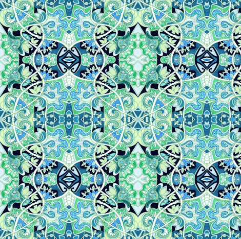 Moorish Amoebaflower fabric by edsel2084 on Spoonflower - custom fabric