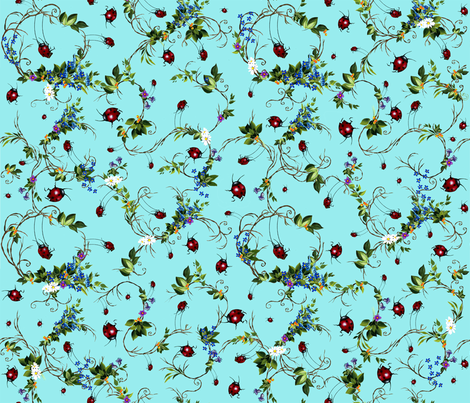 Ladybugs At Play fabric by golders on Spoonflower - custom fabric