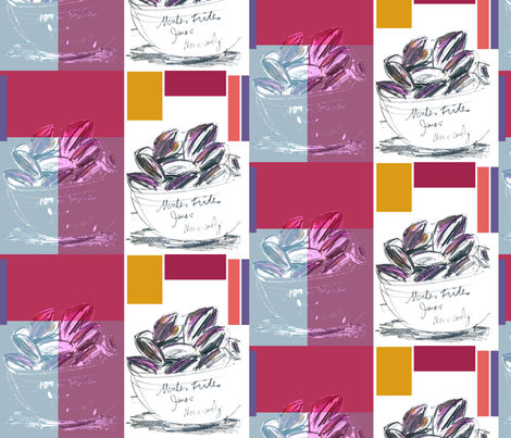 cestlaviv_moules frites fabric by cest_la_viv on Spoonflower - custom fabric