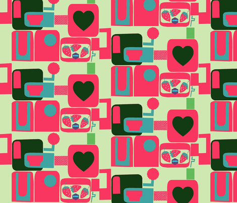 Boris Loves Strawberries fabric by boris_thumbkin on Spoonflower - custom fabric