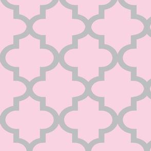 Quatrefoil Blossom & Chinchilla Reverse