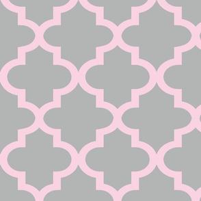 Quatrefoil Blossom & Chinchilla