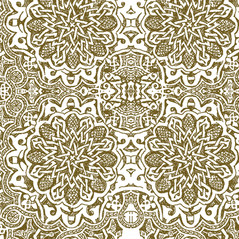 Moorish_henna fabric by bee&lotus on Spoonflower - custom fabric