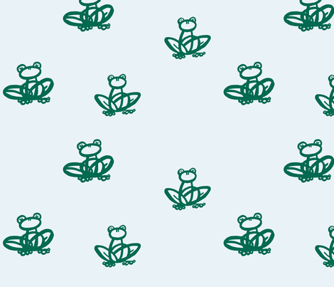 Frogs_Without_Lilypads fabric by ophedia on Spoonflower - custom fabric
