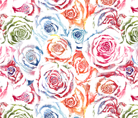 Rainbow Roses fabric by twobloom on Spoonflower - custom fabric