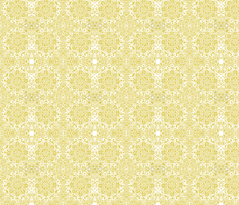 Moorish_ yellow ochre fabric by bee&lotus on Spoonflower - custom fabric