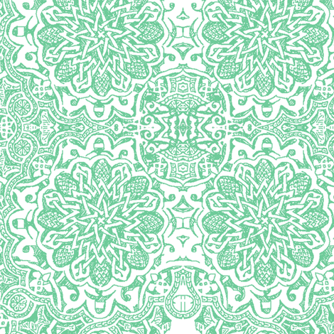 Moorish_aqua fabric by bee&lotus on Spoonflower - custom fabric