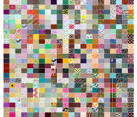 GLIMMERICKS DESIGN SAMPLER 1 of 5 fabric by glimmericks on Spoonflower - custom fabric