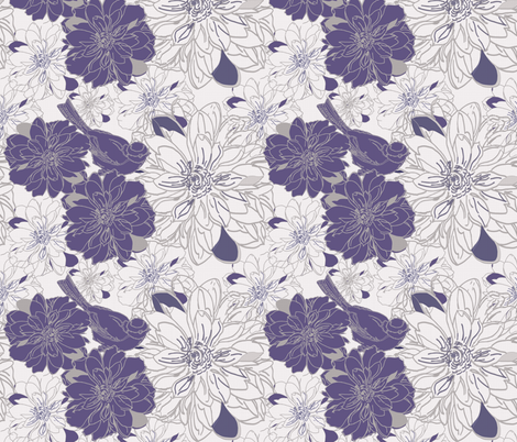 In Bloom fabric by leeandallandesign on Spoonflower - custom fabric