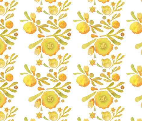 Rgranada_floral_yellow_ochre_shop_preview