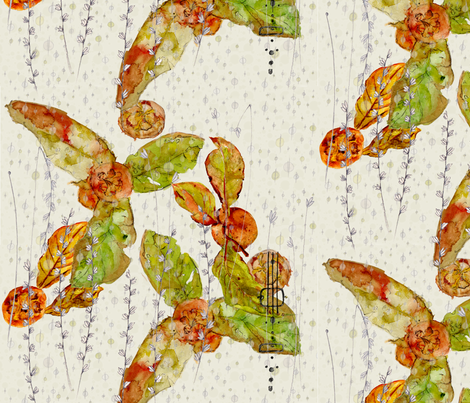 Medlar_Fabric8 fabric by joanneanderson on Spoonflower - custom fabric