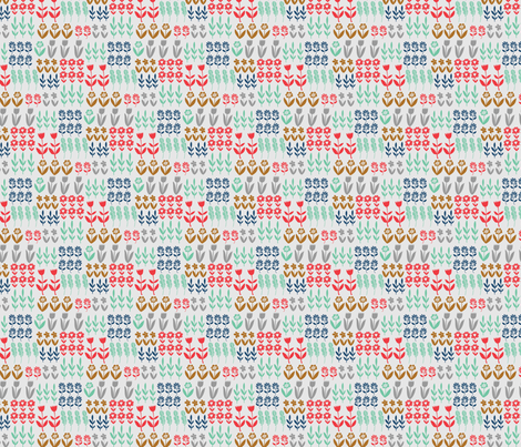 tulip garden fabric by bethan_janine on Spoonflower - custom fabric