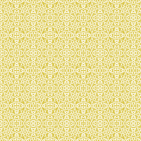 Granada Star_yellow ochre fabric by bee&lotus on Spoonflower - custom fabric