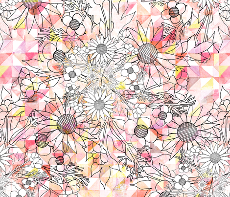 mod_watercolor fabric by nat_olly on Spoonflower - custom fabric