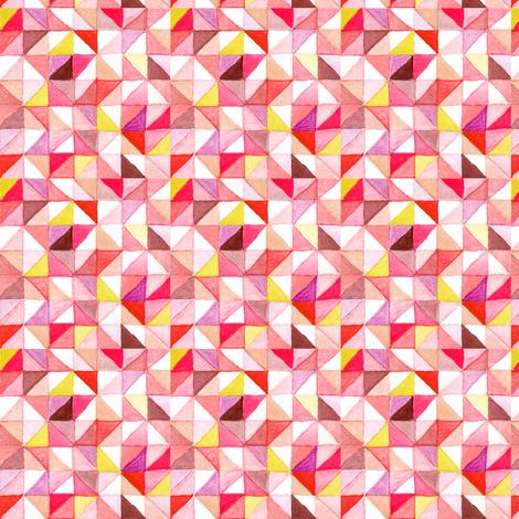 teeny triangles fabric by nat_olly on Spoonflower - custom fabric