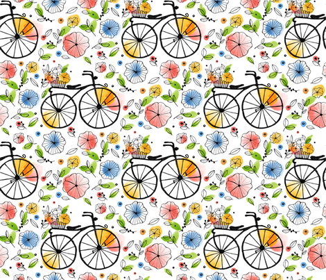 a day in spring fabric by estrella_de_anis on Spoonflower - custom fabric