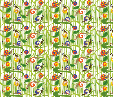 Snails fabric by mag-o on Spoonflower - custom fabric