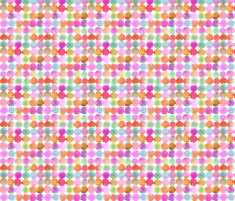watercolor flower dots fabric by maria_carluccio on Spoonflower - custom fabric
