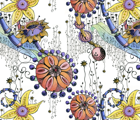 Flower Power fabric by tgittins on Spoonflower - custom fabric