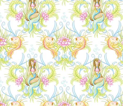 Fabric8 Mermaid Lagoon fabric by fischtaledesigns on Spoonflower - custom fabric