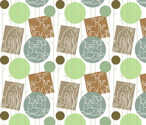 My Dear Deer fabric by dianne_annelli on Spoonflower - custom fabric