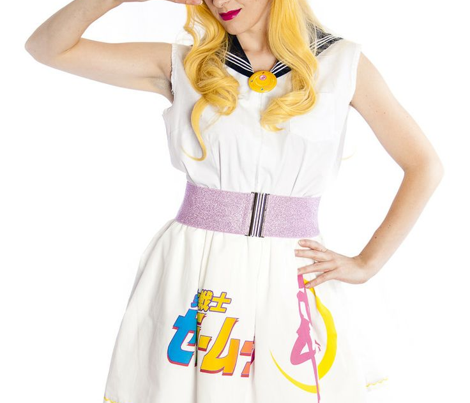 Sailor Moon White Half Yard Skirt 42 inches